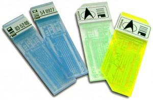 Isolinear Chips aus Startrek, Quelle: http://www.ex-astris-scientia.org/gallery/starfleet-tricorders1.htm